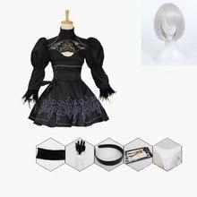 Nier automata cosplay traje yorha 2b roupa sexy jogos terno feminino rpg trajes meninas festa de halloween fantasia vestido