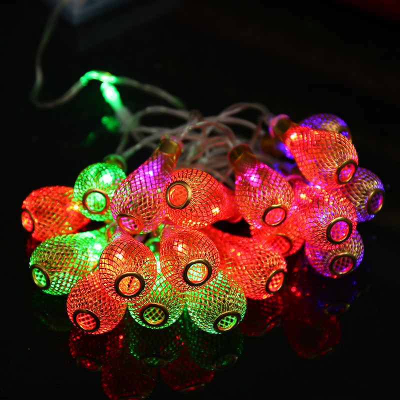 20 LED Garland Metal Drop Fairy String Light Christmas Decoration Fairy Lighting Outdoor for Patio Wedding Party IY310184