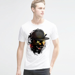 Hip hop t shirts printed dj cat t shirt men rocking funny novel men s top.jpg 250x250