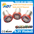 100 PCS CONDUZIU Pinball Luz Bulb Lamp # Baioneta Ba9s #44 #47 AC DC 6 V/6.3 V 1 LED 5050SMD
