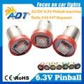 100PCS LED Pinball Light Bulb Lamp #Ba9s #44 #47 Bayonet AC DC 6V/6.3V 1 LED 5050SMD