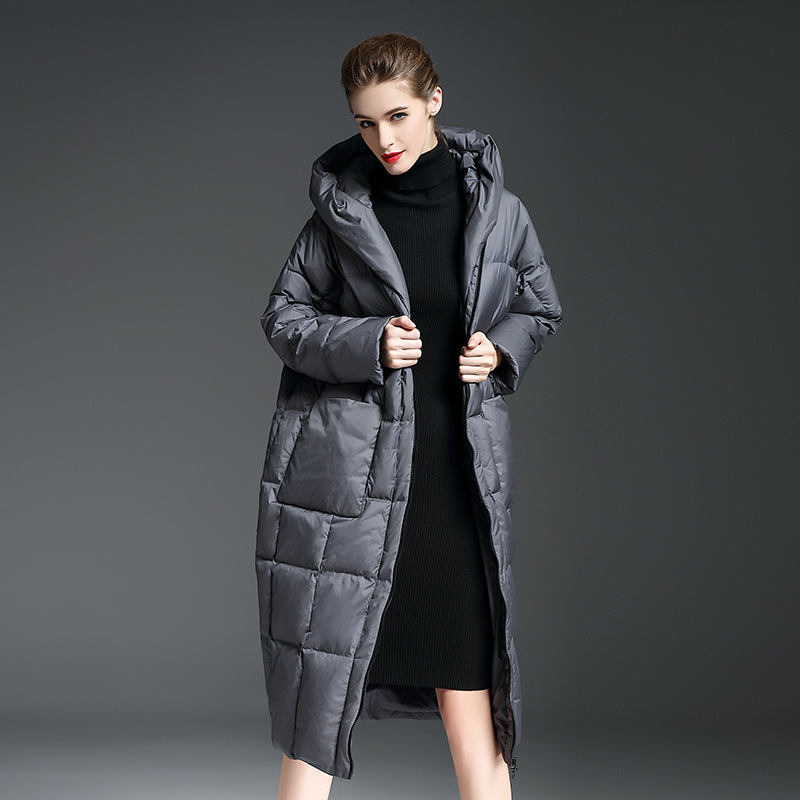 Bas Expédition grey Le Mode La Black Outwear Taille Manteaux Style D'hiver Degrés Chaud Rapide Vêtement Plus 30 Vers 2018 Femmes Européen De Veste 4XBwZqxHYn