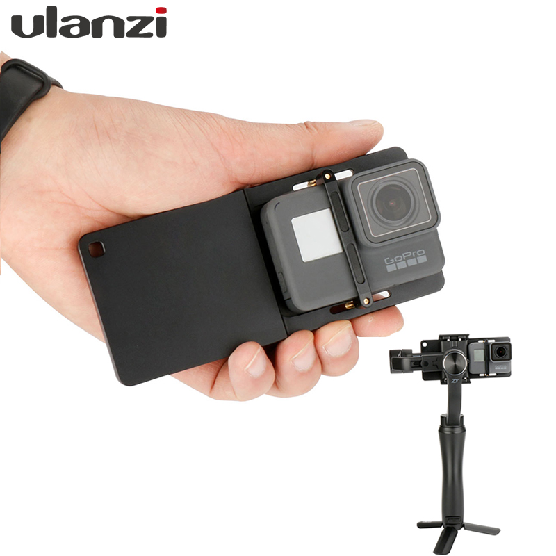 Action Camera Switch Mount Plate for GoPro 6/5,SJCAM 4K, Gopro Adapter for Zhiyun Smooth 4 DJI Osmo mobile 2 smartphone gimbal