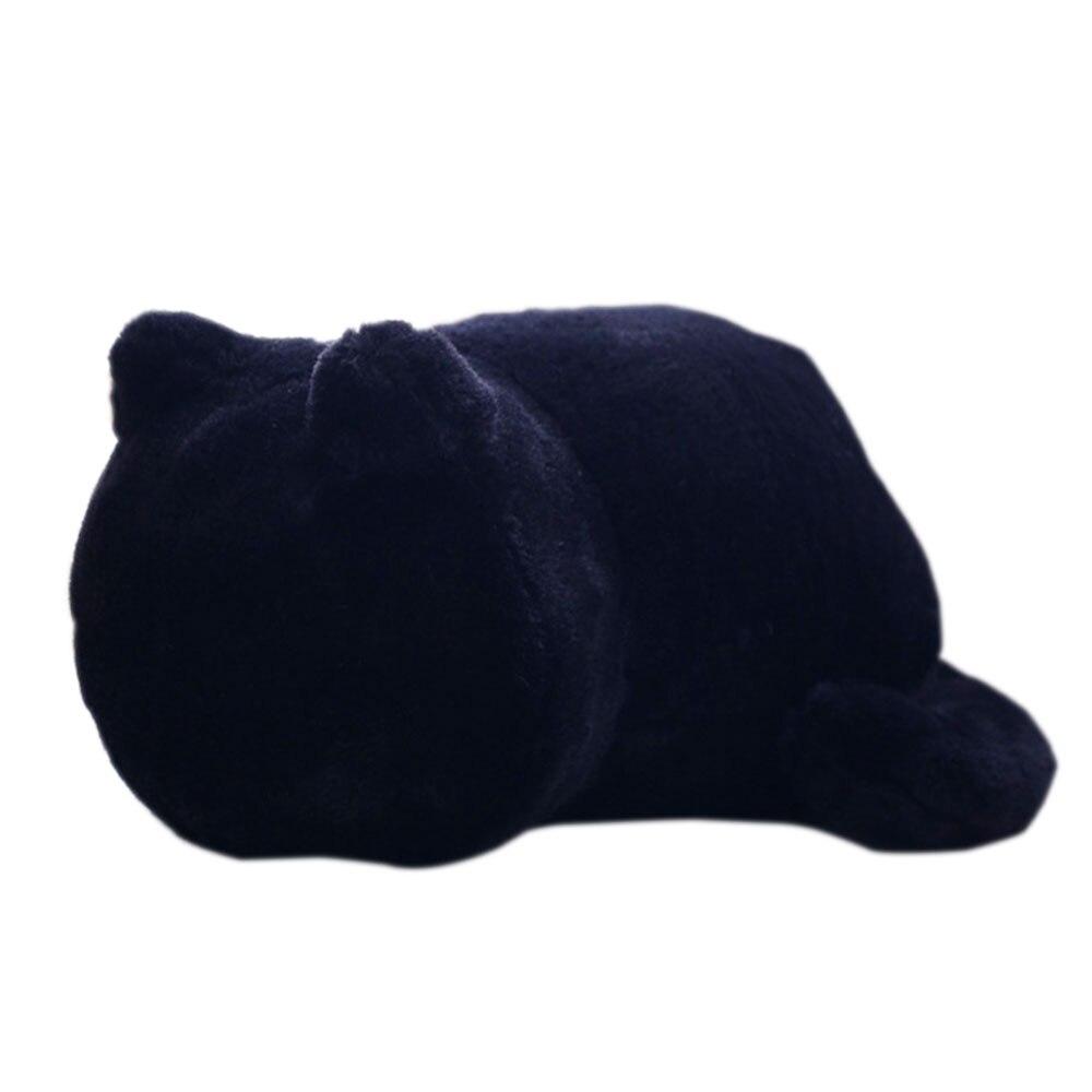 Мягкая игрушечная кошка хлопок спальня игрушки для домашних животных Мягкая кукла Прямая - Цвет: black
