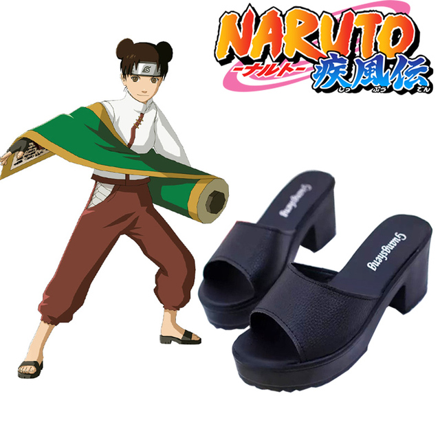f8c2d1dc94 US $22.99  Free Shipping Naruto Shippuden Ten Ten Black Ninja Sandal Anime  Cosplay Shoes-in Shoes from Novelty & Special Use on Aliexpress.com   ...