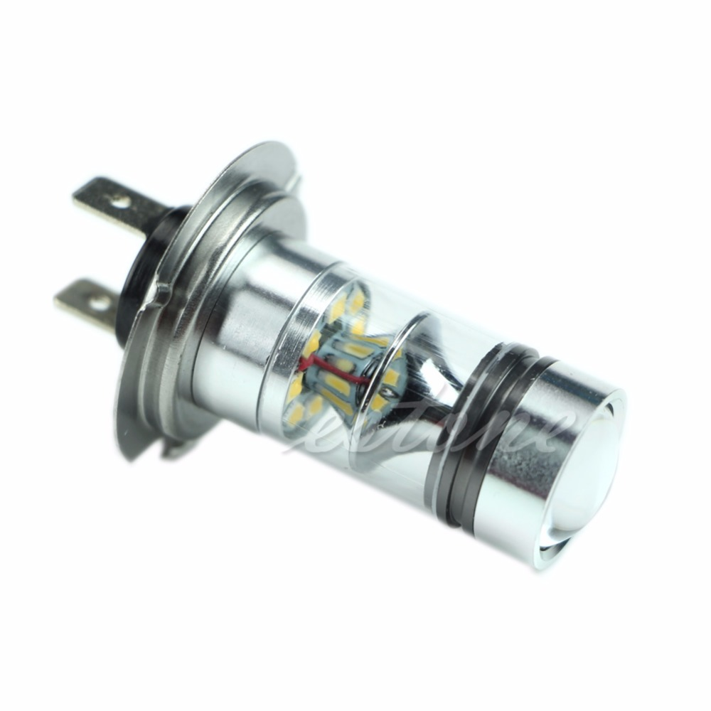 360 Degrees H7 6000K 100W LED 20-SMD Projector Fog Driving DRL Light Bulbs HID White Auto Lamps