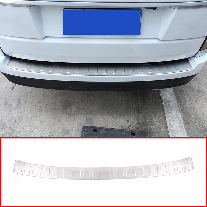 Stainless Steel Rear Outside Bumper Plate Cover For Landrover Range Rover Vogue L405 2013-2018 Car Accessories 2 licence number plate led light no error 2012 rover range rover l405 rover range rover l405 sport l494 ca292
