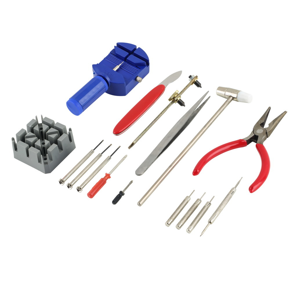 <font><b>Watch</b></font> <font><b>Repair</b></font> <font><b>Tool</b></font> Kit 16pcs/set Band Strap Link Remover Back Opener Screwdriver DROP SHIP <font><b>For</b></font> <font><b>Watch</b></font> Maker Lovers image