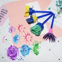 4 шт. DIY штампы игрушки для детей креативные губки Рисование краски кисти граффити игрушки подарки на день рождения для детей
