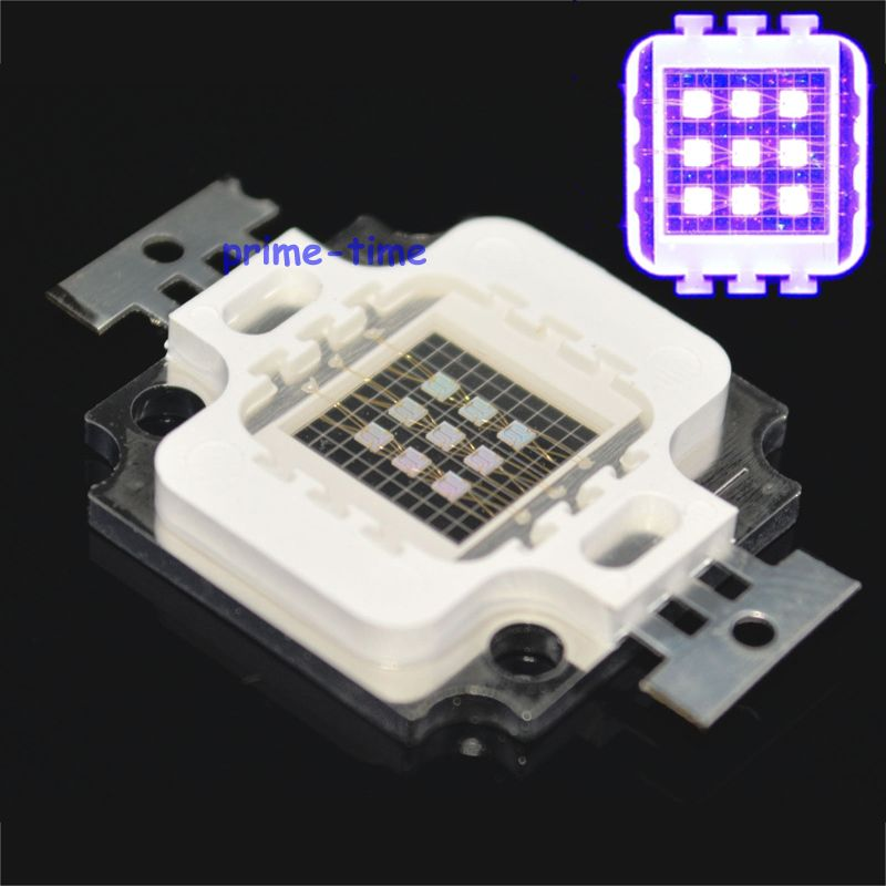 1pc 10W UV High Power LED Light Chip 365nm 380nm 395nm 420nm Ultra Violet purple Light Source for DIY 10w 12w ultra violet uv 365nm 380nm 395nm high power led emitting diode on 20mm cooper star pcb