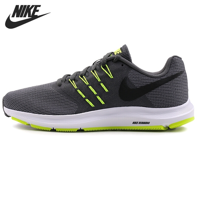 Nike RUN SWIFT Mens Black 001 Mesh Lace Up Support Athletic Training Shoes