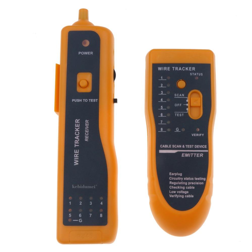 kebidumei rj11 rj45 cat5 cat6 telephone wire tracker tracer toner ethernet lan network cable tester detector line finder [ 1000 x 1000 Pixel ]