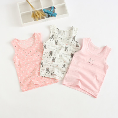 VIDMID Baby Girls tanks tops girls cotton Camisoles vests girls new candy color kids underwear Tanks Camisoles clothes 7068 01 4