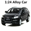 1:24 alloy car models, high simulation supercar Audi Q7, metal Diecasts, toy vehicles, high-end ornaments, free shipping