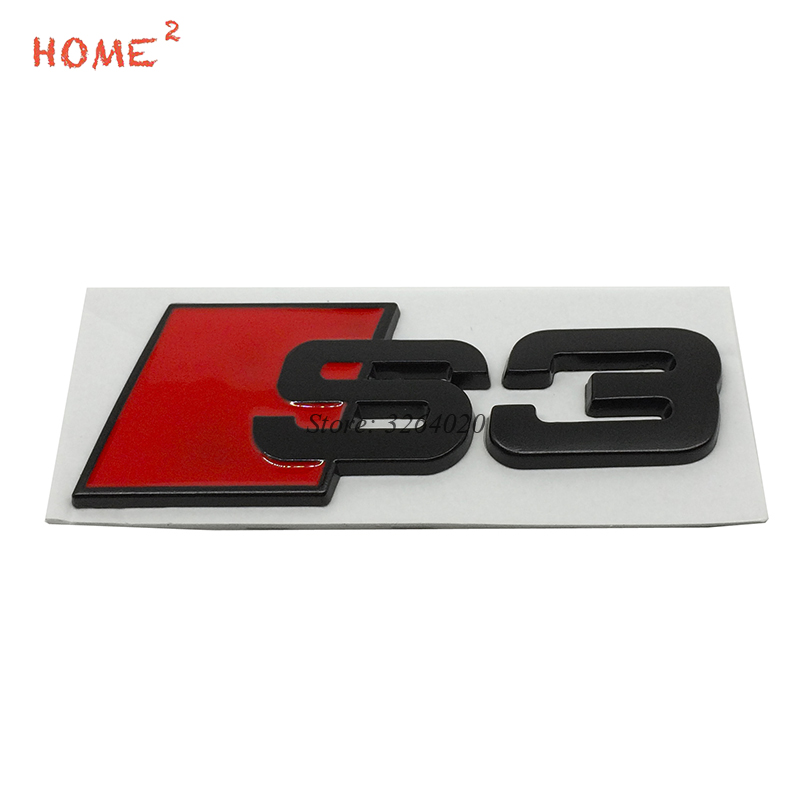 Car Styling for S3 S 3 Logo 3D Metal Emblem Stickers Accessories Auto Badge Decals for Audi S3 S5 S7 A3 A4 A4L Q5 Q7 TT SPORT B8