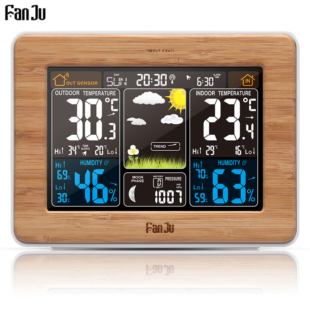 Good FJ3365 Weather Station Color Forecast With Alert | Temperature | Humidity |  Barometer | Alarm |