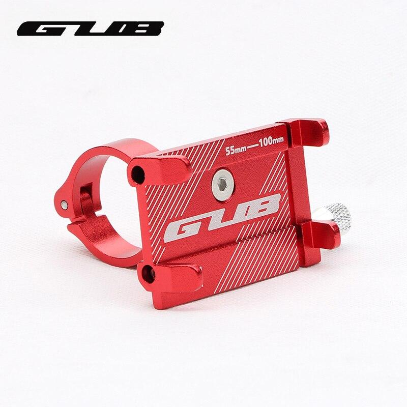 GUB G81 G-81 de aluminio bicicleta soporte de teléfono para 3,5-6,2 pulgadas Smartphone ajustable bicicleta puños soporte GPS teléfono de soporte titular de montaje