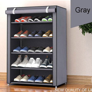 Image 2 - Non woven Fabric Storage Shoe Rack Hallway Cabinet Organizer Holder 4/5/6 Layers Assemble Shoes Shelf DIY Home Furniture