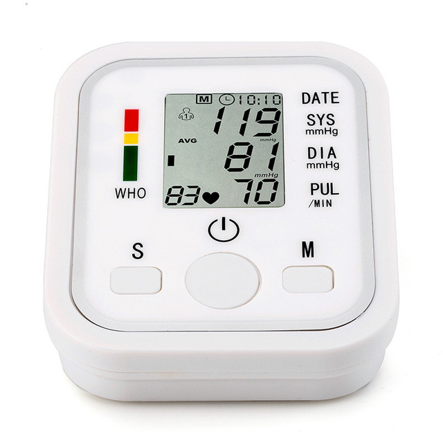 Digitale Lcd Monitor di Pressione Sanguigna del Braccio Superiore Casa Salute e Bellezza di Battimento di Cuore Meter Macchina Tonometro per la Misurazione Sfigmomanometro