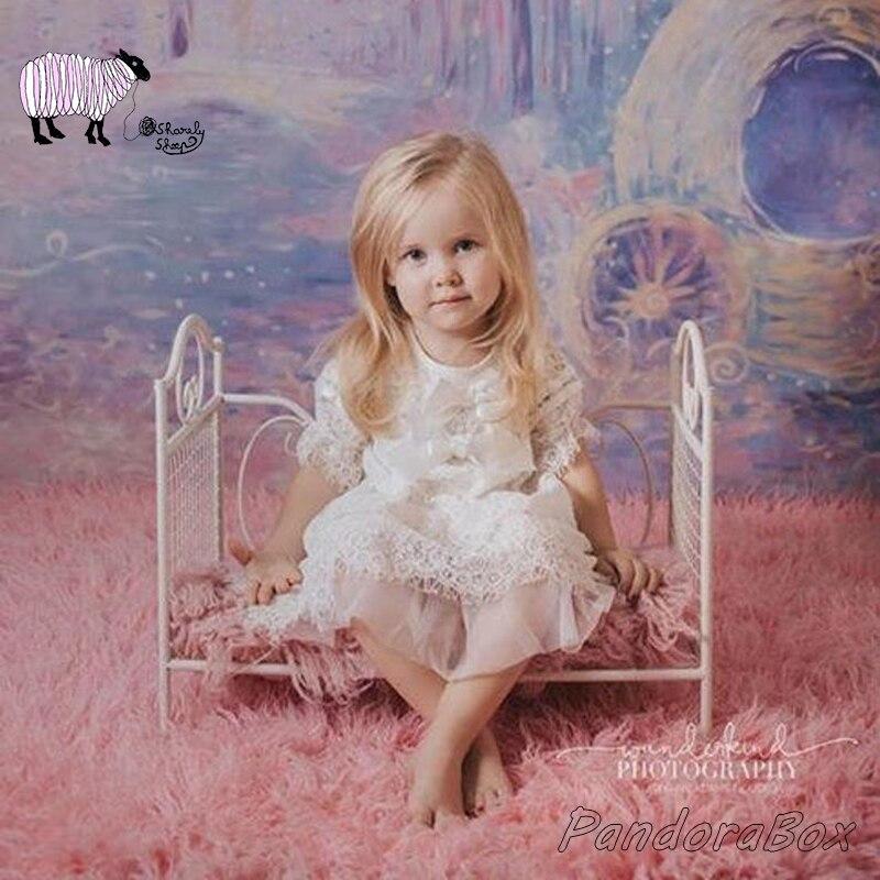 50*36 cm lit de fer nouveau-né bébé photographie lit accessoires fotografia fille garçon bébé Photo Shoot Stuido posant lit nouveau-né Shoot Prop