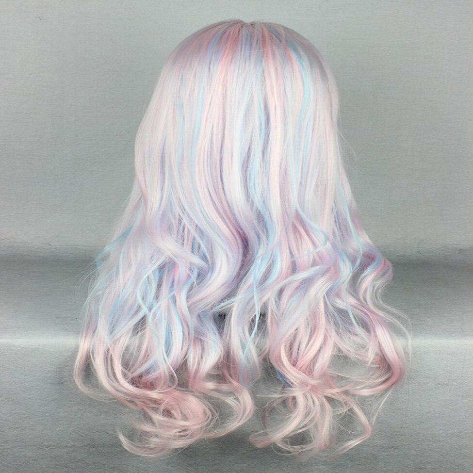 HAIRJOY Synthetic Hair Zipper 70cm Long Wavy Harajuku Lolita Cosplay Wig 18 Colors Available 94