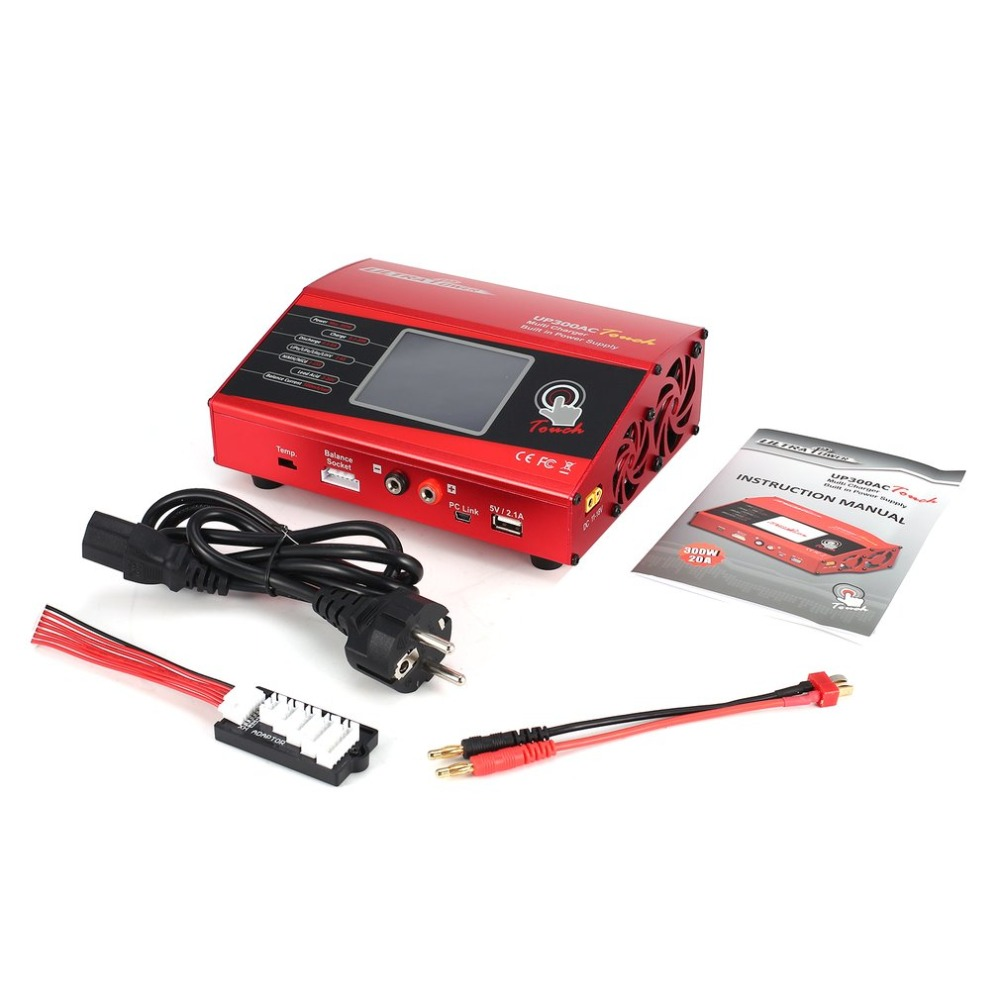 UP300AC High Power Touch 300W 1-6S LiIo / LiPo / LiFe / LiHV / NiCd / NiMH Battery Balance Charger Discharger for RC Model PartsUP300AC High Power Touch 300W 1-6S LiIo / LiPo / LiFe / LiHV / NiCd / NiMH Battery Balance Charger Discharger for RC Model Parts