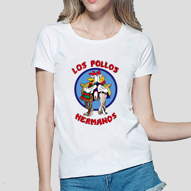 e27a83ff Breaking Bad women t shirt 2019 LOS POLLOS print funny tops for lady  Chicken Brothers fashion