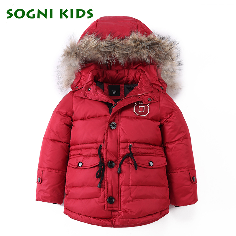 -20C Fashion Children Boys Girls Down Coats 2018 Winter Kids Jacktet Warm Fur Hooded Outfits Duck Clothes Thicken Clothing russia winter boys girls down jacket boy girl warm thick duck down