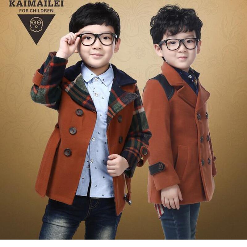 cf09cacc0 Winter Children Clothing Kids Boys Jackets Plaid Boys Blazers ...