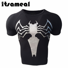 Itsameal Captain America 3D Printed T-shirts Men Avengers Black Spider Man Tees Fitness Clothing Male Crossfit Tops