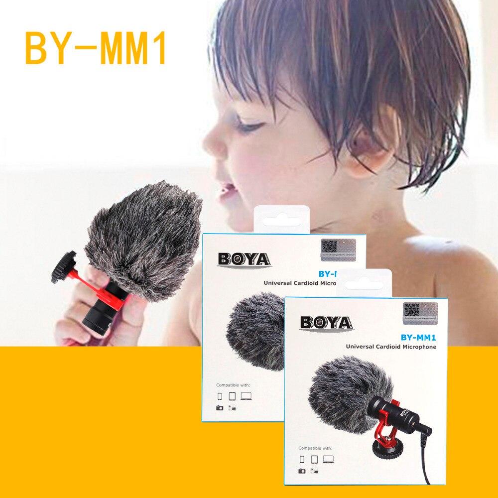 BOYA BY-MM1 micrófono cardioide para Smartphone DJI Osmo Nikon Canon DSLR Youtube Vlogging de cable de audio de 3,5 MM - 6