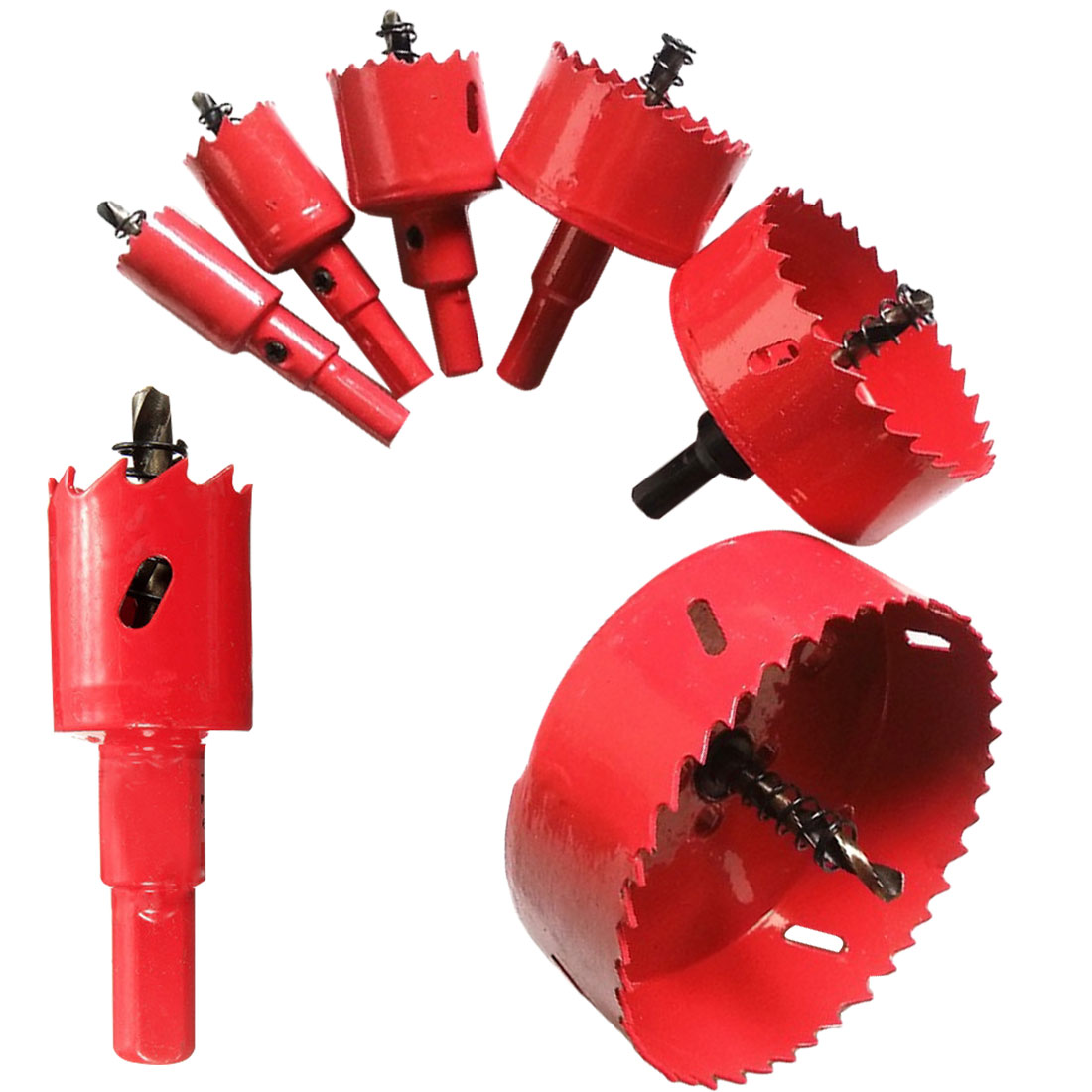 Metal Holes Drilling Kit Carpentry Tools 16mm-50mm Drill Bit Hole Saw Twist Drill Bits Cutter Power Tool For Wood Steel Iron