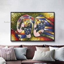 Известный художник ручная роспись высокого качества картина Пикассо испанский современный  Лучший!