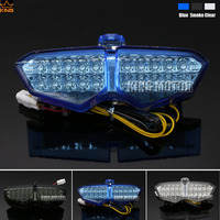 For YAMAHA R6 2003 2005 YZF R6 2003 2005 YZF R6s 2006 2009 XTZ 250X 2006 2009 Integrated LED Tail Light Turn signal Blinker Blue