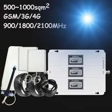 Lintratek Big Cover Tri Band Signal Repeater GSM 900Mhz UMTS 2100 LTE 1800 Cellular Signal Booster Amplifier 4G 3G 2G Set S7-1