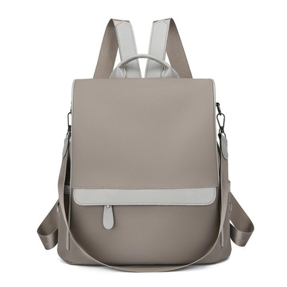 Fashion Women's Anti-theft Backpack Oxford Cloth Waterproof Solid Color School Bag Casual Detachable Shoulder Strap Shoulder Bag