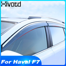 Hivotd For Haval F7 Exterior Trim Car Window Visor Sun Guard Protection Cover Parts Rain Deflectors Decoration Accessories 2019 трос буксировочный зубр эксперт 2 крюка сумка 5м 2 5т