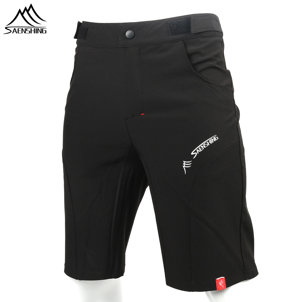 SAENSHING Cycling Shorts Men Bicycle Downhill Mtb Shorts Adjustable Waist Mountain Bike shorts Sport Short Vtt bermuda ciclismo frilled waist raw hem shorts
