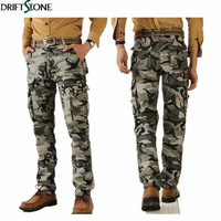 2014 Outdoor Quality Military Camouflage Pants Overalls Male Army Casual Cargo Pants Plus Size Men Army