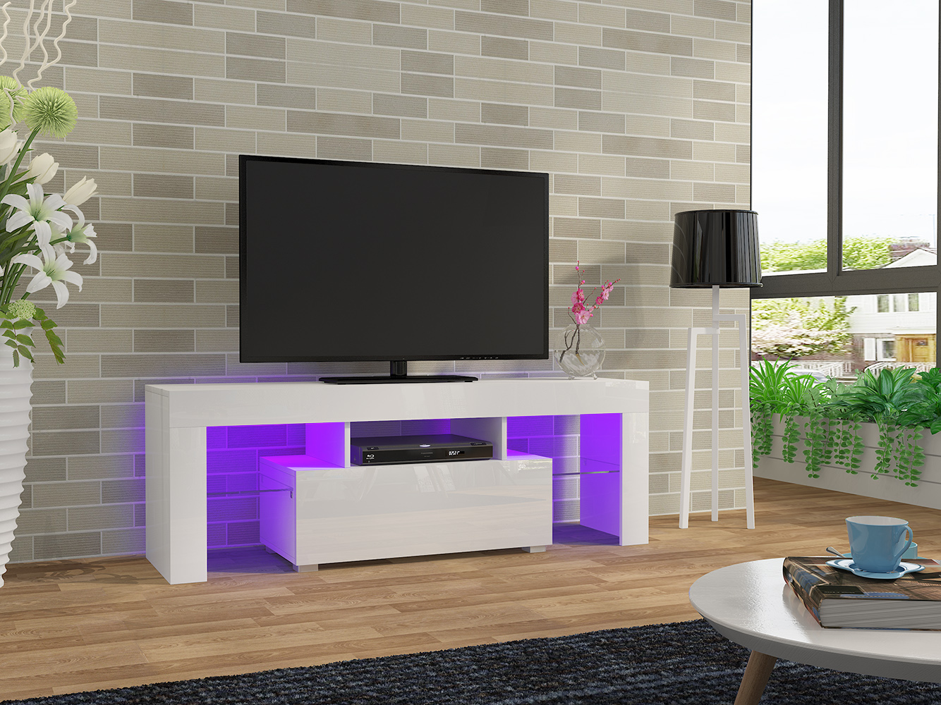 LED TV Stand Modern LED Living Room Furniture TV Cabinets Dropshipping italian design modern tv stand elegant wooden tv stand