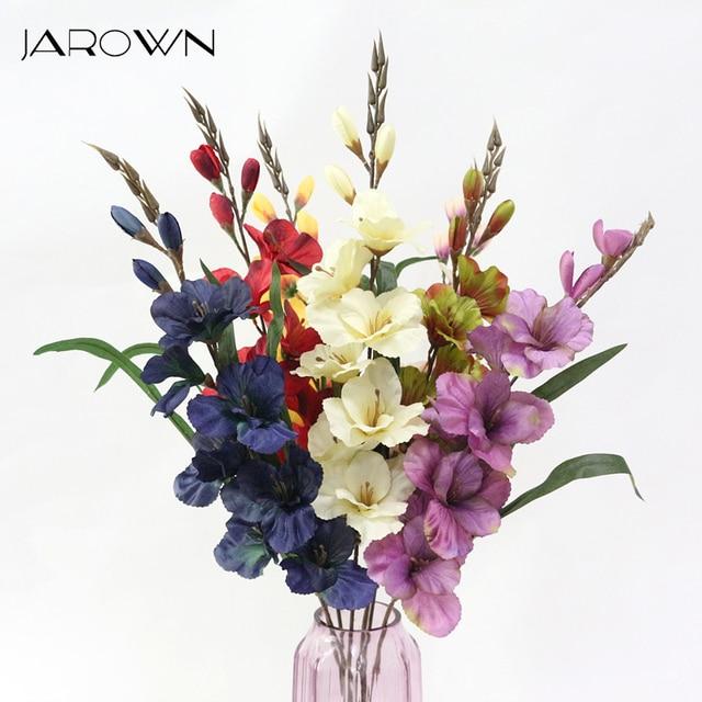 JAROWN Artificial Flowers Bouquet Orchid Silk Flower Decorative ...