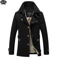 2018 Spring Autumn Jacket Men Slim Fit Trench Coat Mens Cotton Button Male Casual Windbreaker Overcoat Jackets Coat