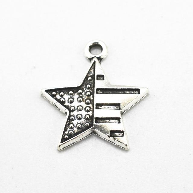 Silver American Flag * CHARM for bracelet sdhrZBKR