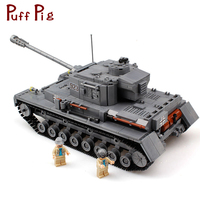 Military 923 PZKPFW IV War Tank Model Soldiers Figures Building Blocks Sets Compatible Legoingly Army ww2 Toys For Children Kids