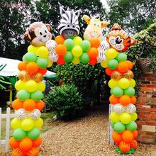 PATIMATE Latex Animal Balloons Birthday Jungle Party Safari Theme Balloon Decors Dog Tiger