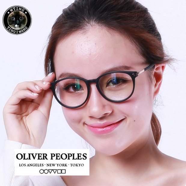 big round brand design trending style vintage glasses frame myopia eyeglasses decorations personalized eyewear oliver discount