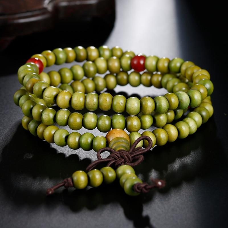 Image 5 - Natural Sandalwood Buddhist Buddha Prayer Bracelets Prayer Bead  Mala 108 Beaded 6mm Stretch Women Men Bracelets