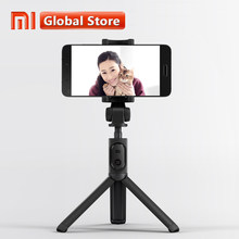 Asli Xiaomi Foldable Tripod Selfie Stick Bluetooth Selfie Stick Nirkabel Rana Selfie Stick untuk iPhone Android Xiaomi(China)