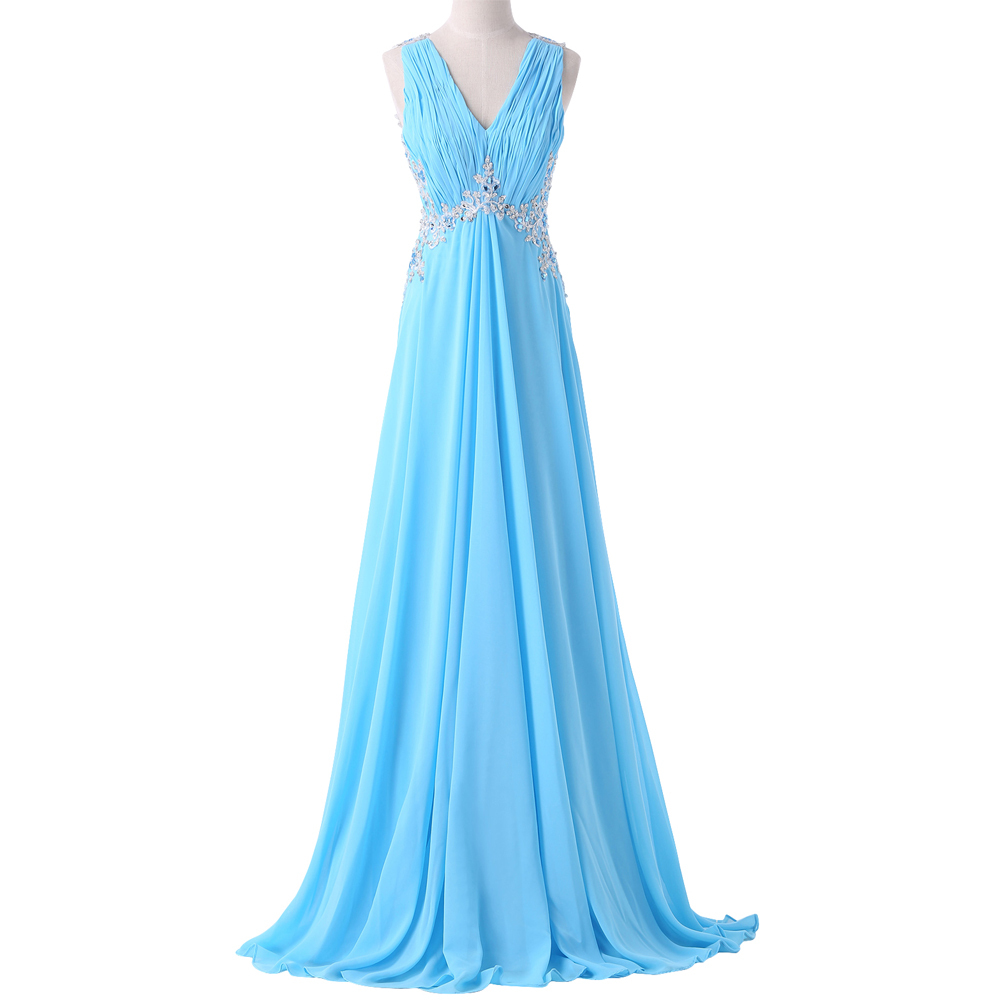 Buy pink blue chiffon bridesmaid dress for Cheap wedding reception dresses for bride