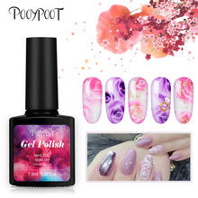 Pooypoot Blossom Gel Nail Polish Magic Blooming Effect Gel Lacquer Soak off UV Nail Gel Varnishes Nail Art Design DIY Decoration modelones newest 10ml blossom gel polish diy nail art design blossom flowers color uv nail gel polish long lasting blossom gel